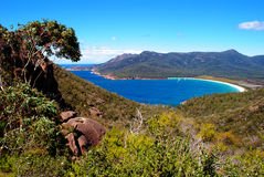 Wineglass Bay. In Freycinet National Park, Tasmania, Australia Royalty Free Stock Photo