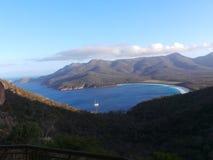 Wineglass Bay, Freycinet, Tasmania, Australia. View from a distance Royalty Free Stock Photography