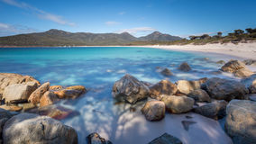 Wineglass Bay. A long exposure of Wineglass Bay, Freycinet National Park, Tasmania royalty free stock photo