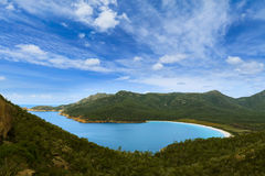 Wineglass Bay in Tasmania, Australia Royalty Free Stock Image