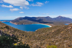 Wineglass Bay, Tasmania. The famous Wineglass Bay in Freycinet National Park. Tasmania, Australia Stock Images