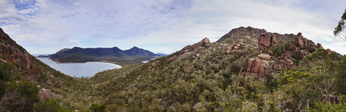 Wineglass bay top panorama Royalty Free Stock Photo