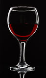 Wineglass on black Royalty Free Stock Photography