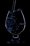 Wineglass on the black background Stock Photography