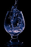 Wineglass on the black background Royalty Free Stock Photos