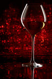 Wineglass with bokeh Stock Photography