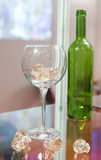 Wineglass and bottle Royalty Free Stock Photo