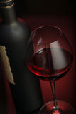 Wineglass and bottle Royalty Free Stock Image