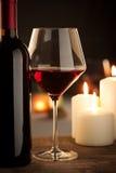 Wineglass and bottle still life Stock Photo