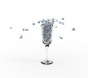 Wineglass of brilliants. 3d abstract wineglass of brilliants Royalty Free Stock Images