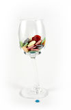 Wineglass and buttons Royalty Free Stock Photography