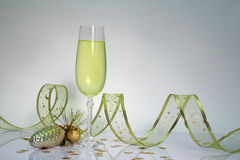 Wineglass for Christmas. Still life Royalty Free Stock Photography