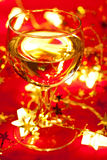 Wineglass with Christmas decoration Stock Photos