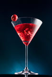 Wineglass with the cocktail Royalty Free Stock Image