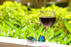 Wineglass with cold sangria Royalty Free Stock Photo