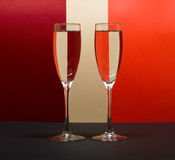 Wineglass in color background. Two wineglass in color background Stock Photos