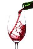 Wineglass de derramamento Imagem de Stock Royalty Free