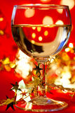 Wineglass with decoration Royalty Free Stock Photo