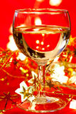 Wineglass with decoration Royalty Free Stock Photography