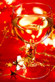 Wineglass with decoration Royalty Free Stock Image