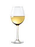 Wineglass. Detailed illustration for other use. In vector - glass is transparent Stock Photography
