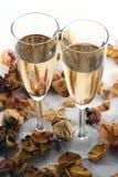 Wineglass do champanhe isolado no backgroun branco Imagens de Stock