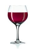 Wineglass e vinho vermelho Fotos de Stock Royalty Free