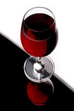 Wineglass on edge Royalty Free Stock Photo