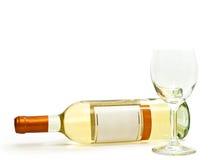 wineglass för vit wine Arkivfoton