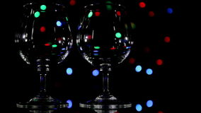 Wineglass and fast light background stock video
