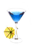 Wineglass are filled with blue beverage Stock Photos