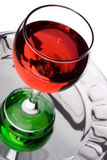Wineglass filled with red liquid Royalty Free Stock Photos