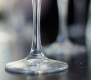 Wineglass foot. A wineglass foot on bar counter Stock Photos