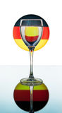 Wineglass on the German flag Royalty Free Stock Images