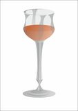 Wineglass. Glass of wine for the festive table Stock Illustration