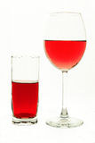 Wineglass and glass Royalty Free Stock Photos