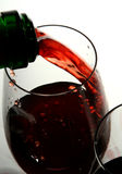 Wineglass of good French wine Stock Photos