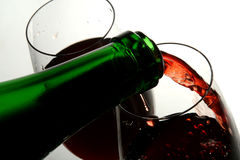 Wineglass of good French wine Royalty Free Stock Photography