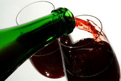 Wineglass of good French wine Royalty Free Stock Photo
