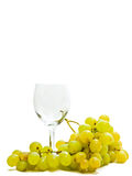 Wineglass and grape Royalty Free Stock Photography
