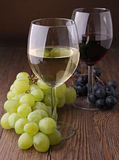 Wineglass and grapes Royalty Free Stock Image