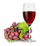 Wineglass and grapes Royalty Free Stock Photography