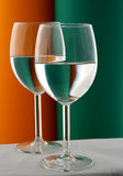 Wineglass in Green and Orange Stock Image