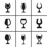 Wineglass icons set Stock Photo