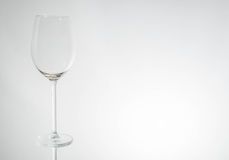Wineglass. Its a empty wineglass with a white background stock image