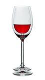 Wineglass meio cheio e vazio Foto de Stock Royalty Free