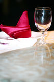 WINEGLASS AND NAPKIN (click image to zoom) Royalty Free Stock Image