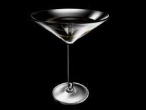 Wineglass no fundo preto Imagem de Stock