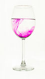 Wineglass and paint Stock Photos
