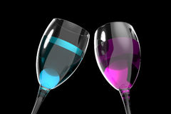 Wineglass party drink nightclub colorful drink. Wineglass party drink nightclub Concept colorful drink Stock Images